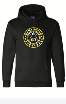 BLACK CHAMPION HOODY W /G7 LOGO ON FRONT - NUMBER ON BACK