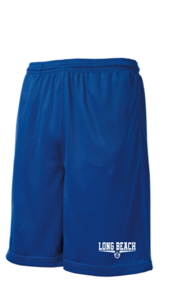 ROYAL  DRI FIT SHORTS WITH POCKETS