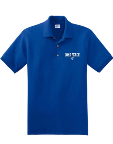 ROYAL DRI FIT EMBROIDERED  POLO SHIRT