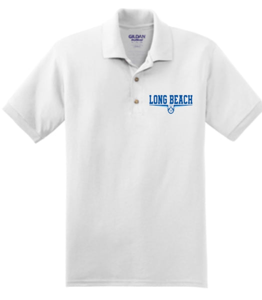 WHITE  DRI FIT EMBROIDERED  POLO SHIRT
