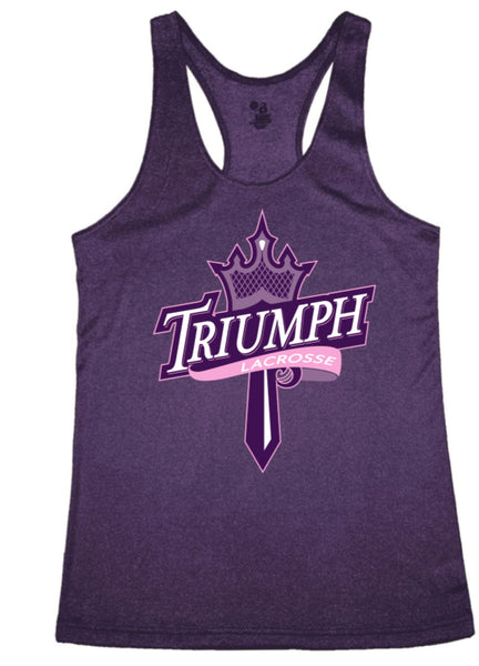 PURPLE BADGER TANK WITH TRIUMPH LAX LOGO FULL FRONT