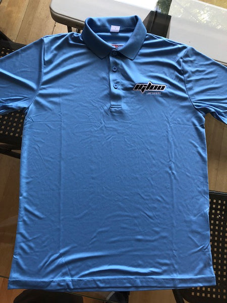 RUSSELL ATHLETIC DRI FIT ESSENTIAL POLO  CAROLINA BLUE