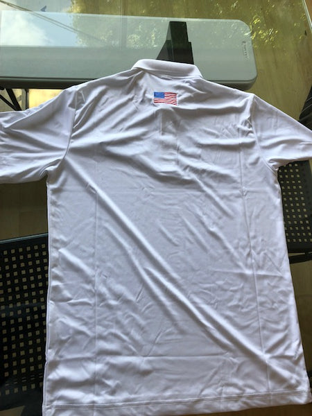 RUSSELL ATHLETIC DRI FIT ESSENTIAL POLO  WHITE