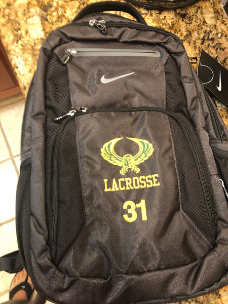 NIKE ELITE BACKPACK  WITH NUMBER EMBROIDERED