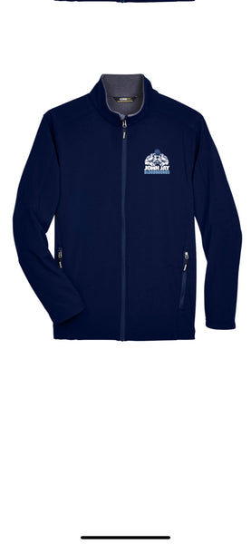 NAVY Two-Layer Fleece Bonded Soft Shell Jacket W/BLOODHOUNDS  LOGO