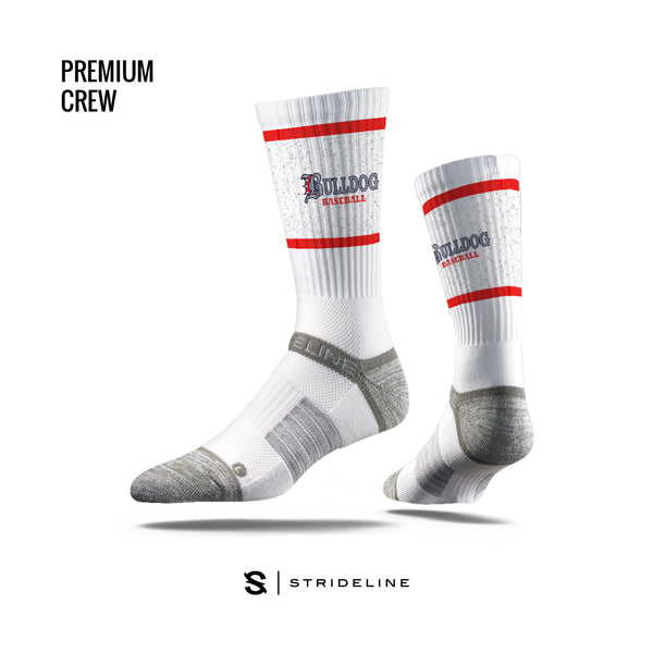 White Hewlett Basebll Socks