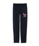 BLACK OPEN BOTTOM & POCKETED SWEATPANTS  W/ LOGO EMBROIDERED