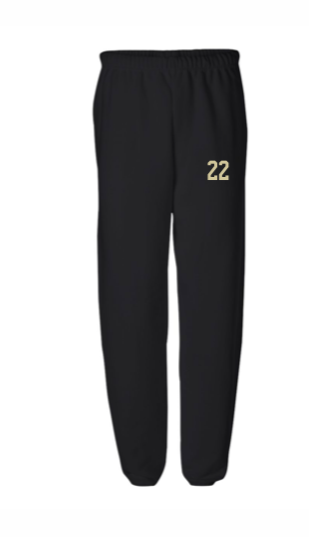 CHAMPION PANTS W/ NUMBER ON LEG - CLOSED BOTTOM