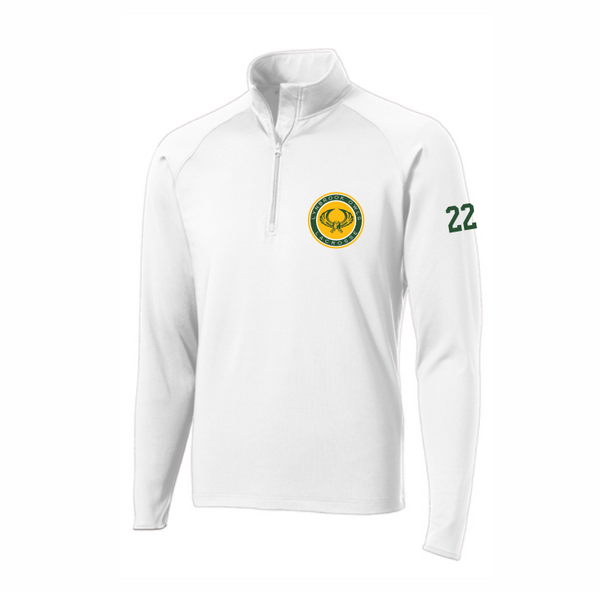 LYNBROOK  LAX UNISEX 1/4 ZIP WITH LOGO EMBROIDERED AND NUMBERS ON SLEEVE