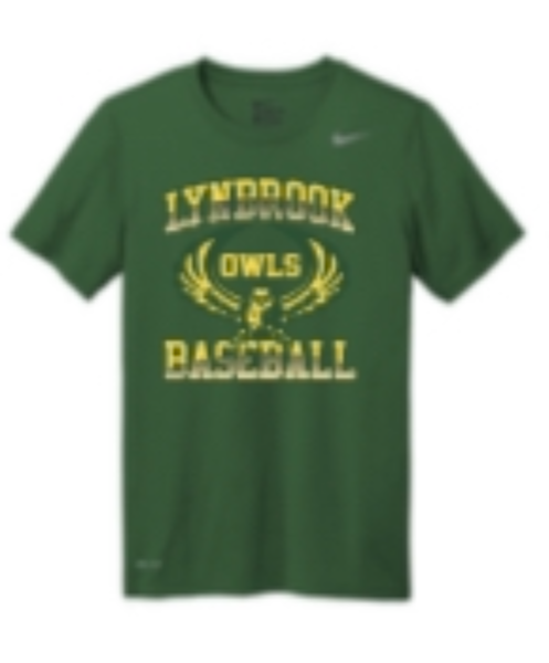 Lynbrook Baseball Green Nike Short Sleeve T-Shirt