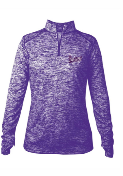 Badger - Women's Blend Quarter-Zip Pullover W/ LOGO EMBROIDERED