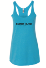 NEXT LEVEL TRIBLEND RACERBACK TANK - TAHITI BLUE