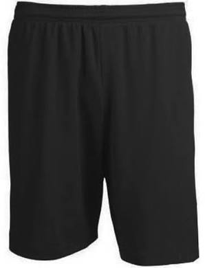 BLACK SOCCER SHORTS W/ NUMBER ON RIGHT LEGS