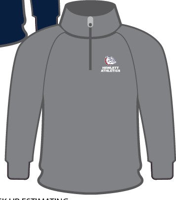SPORTEK  STEEL GREY   1/4 ZIP SWEATSHIRTS  W/ EMBROIDERY