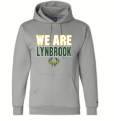 Champion Hoodie (grey),  WE ARE LYNBROOK LOGO