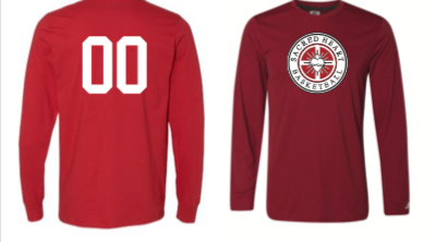 BADGER RED LONG SLEEVE LOOSE SHOOTERS