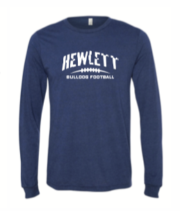 BELLA LONG SLEEVE SHIRT TRI BLEND NAVY HEATHER SHIRTS