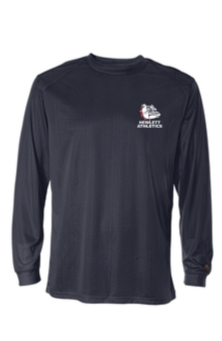 Hewlett Athletics Navy Badger  B-Core Long  Sleeve Dri Fit  T-Shirt