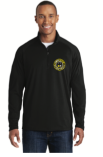 BADGER 1/4 ZIP BLACK  DRI FIT  W/ G7 LOGO