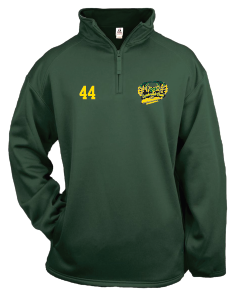 Lynbrook Baseball BADGER 1/4 ZIP   DRI FIT W/ LOGO EMBROIDERED w/ Number