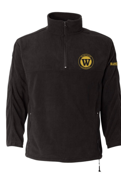 FEATHERLITE 1/4 ZIP MICROFLEECE  W/ LOGO EMBROIDERED LEFT CHEST AND NAME ON SLEEVE