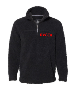 RVCTA 1/4 zip sherpa w/ logo embroidered