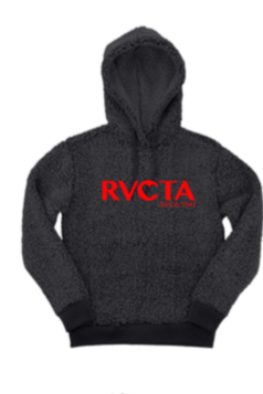 RVCTA Charcoal Sherpa w/ logo full front