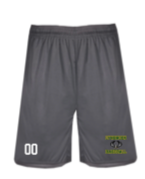 Lynbrook Baseball Grey Badger Shorts w/ logo on leg and number