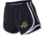 Boxercraft running shorts w/ logo distressed