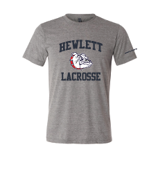 HEWLETT LAX BELLA SHORT SLEEVE TRI BLEND  UNISEX COTTON SHIRT