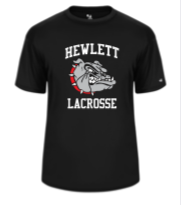 Hewlett Lax Black Bella Tri Blend  Short Sleeve Cotton T-Shirt