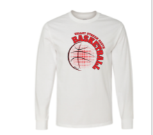 UNISEX WHITE COTTON LONG SLEEVE T-SHIRT W/ FULL FRONT LOGO