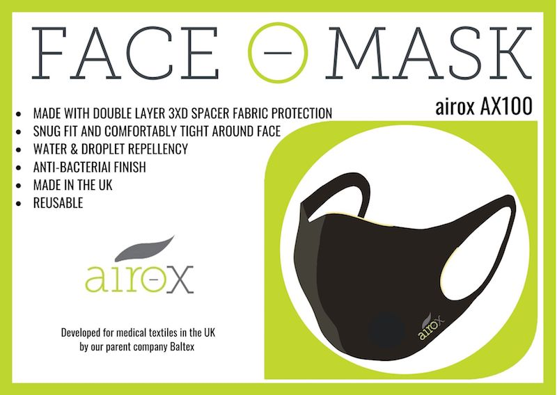 Airox TM Face Masks - Premium Textile Face Mask