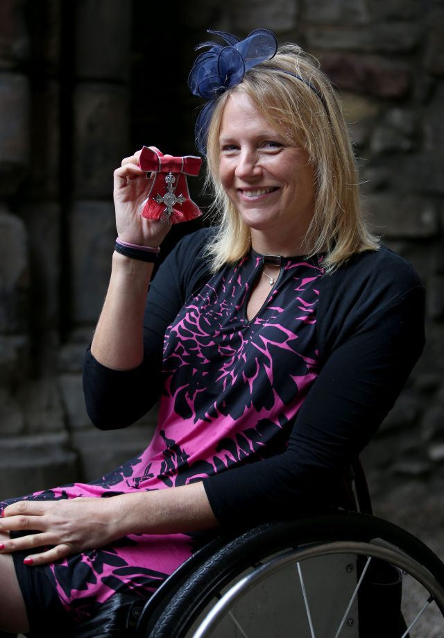Karen Darke is awarded MBE