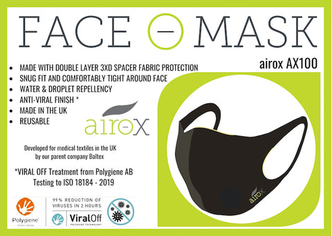 Airox reusable face mask