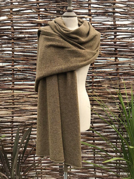 Cashmere Voyager Wrap - Moorland Brown