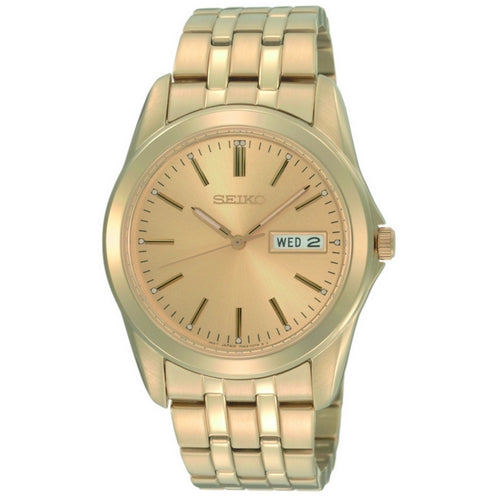 SGGA48P1 - SEIKO WATCH - Gents Gold Plated Bracelet - Seiko Store Ireland