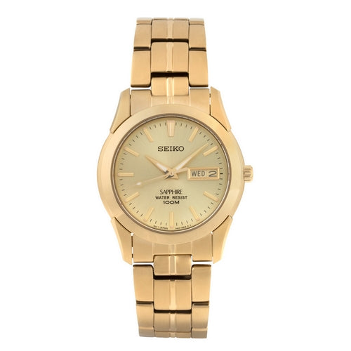 SGGA62P1 - SEIKO WATCH - Gents Gold Plated Bracelet - seiko-store