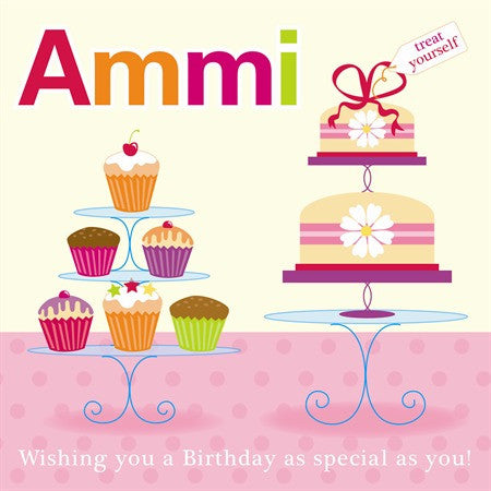 Ammi Birthday Card