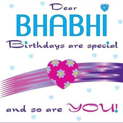 Dear Bhabhi Birthday Card