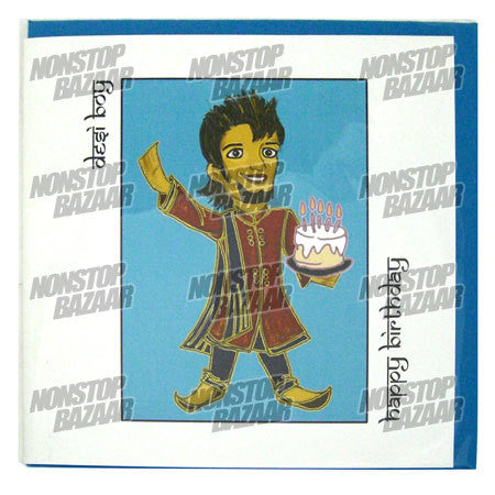 Desi Boy Happy Birthday Card