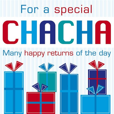 For a Special Chacha Birthday Card