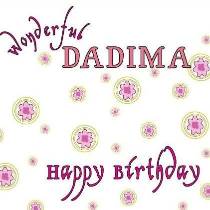 Wonderful Dadima Birthday Card