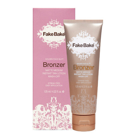 Fake Bake Bronzer  Instant Tan Lotion - Matte Medium 125ml