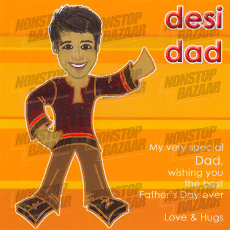 Desi Dad - My Very Special Dad Card
