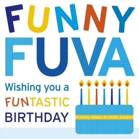 Funny Fuva Birthday Card