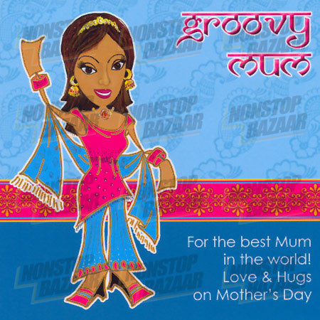 Groovy Mum - For the best Mum in the World! Card