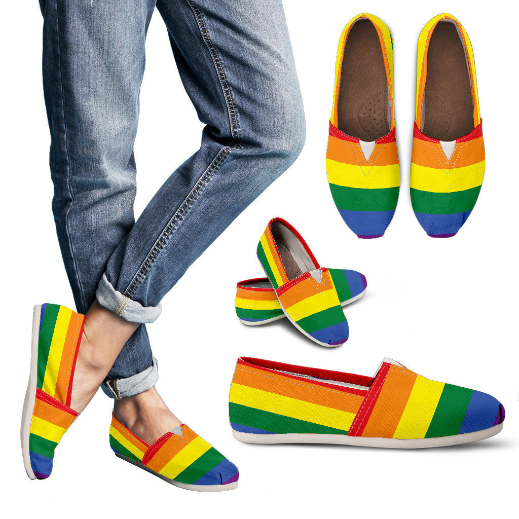 LGBT Special Custom Women Casual Shoes || Handmade