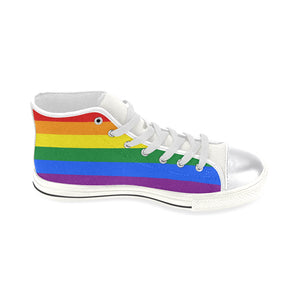 LGBT Rainbow Canvas Shoes || Women Size New Edition