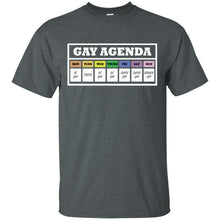 Load image into Gallery viewer, T-shirt Design-02 Gay Agenda Funny T-shirt